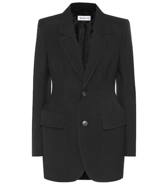 Balenciaga Hourglass virgin wool blazer in black