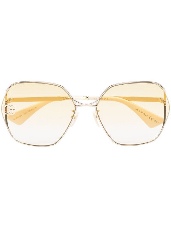 Gucci Eyewear Fork square-frame sunglasses in yellow
