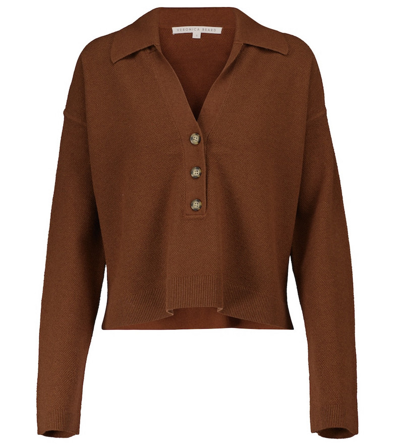 Veronica Beard Takira wool-blend sweater in brown
