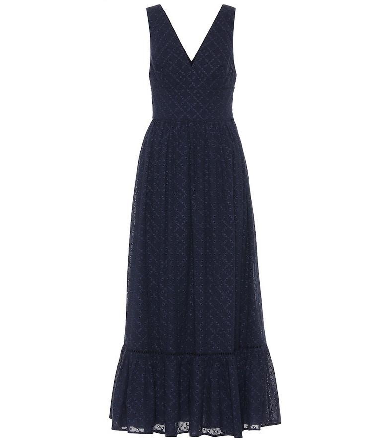 Heidi Klein New Haven cotton maxi dress in blue