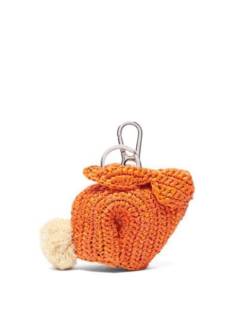 Loewe - Bunny Raffia Coin Purse - Womens - Orange
