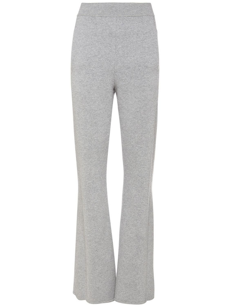 ALBERTA FERRETTI Wool & Cashmere Knit Pants in grey