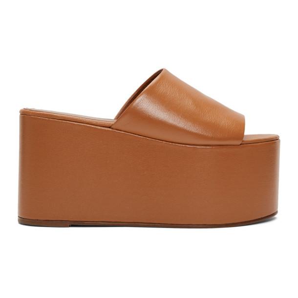Simon Miller Tan Blackout Platform Sandals