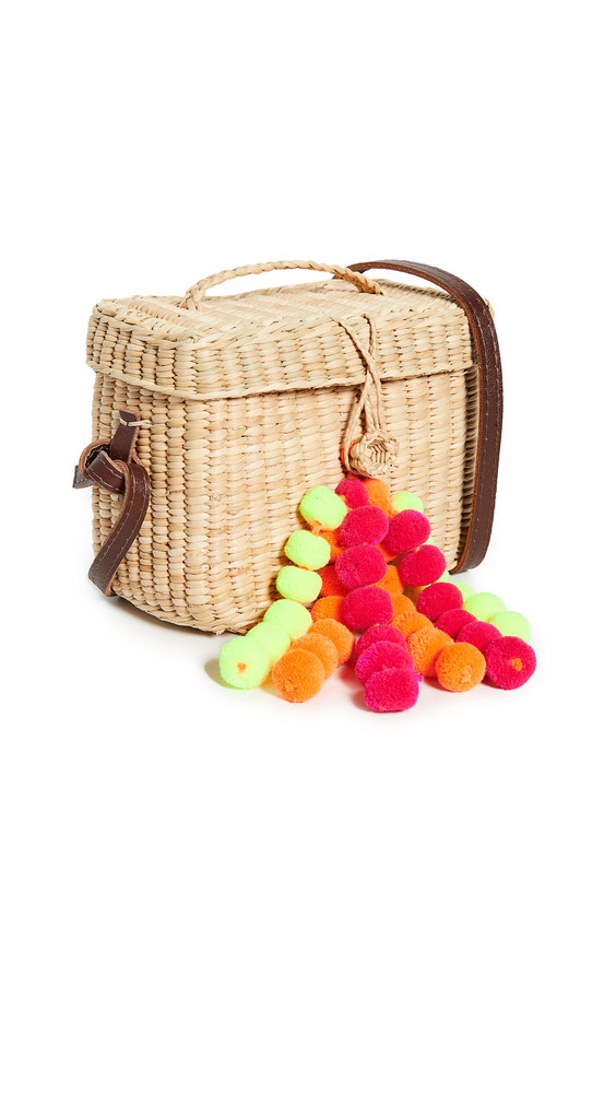 Nannacay Roge Small Crossbody Bag in green / orange / pink