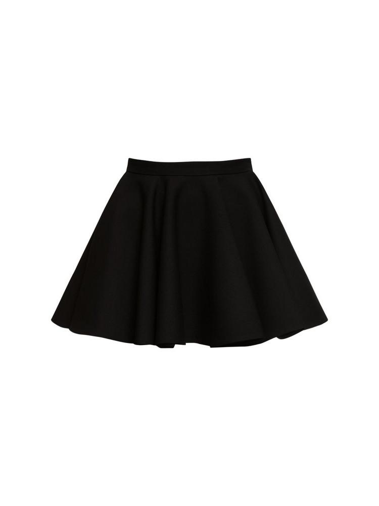 VALENTINO Wool & Silk Crepe Couture Mini Skirt in black