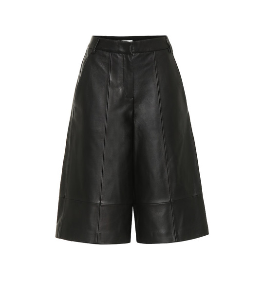 Tibi Leather culottes in black