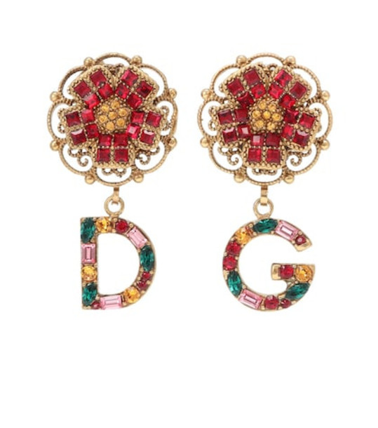 Dolce & Gabbana Floral clip-on earrings in gold