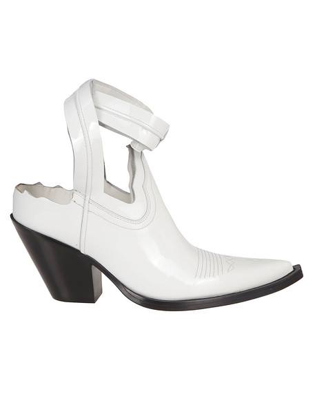 Maison Margiela Cut-out Texan Boots in white