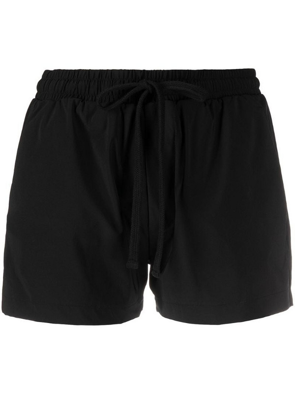 Thom Krom drawstring short shorts in black