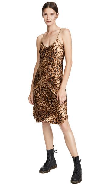 Nili Lotan Short Cami Dress in print / leopard