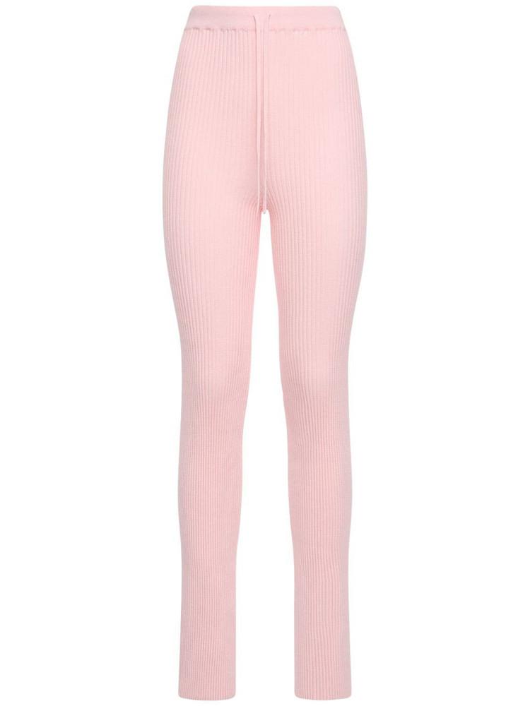 MARQUES'ALMEIDA Viscose Blend Knit Sweatpants in pink
