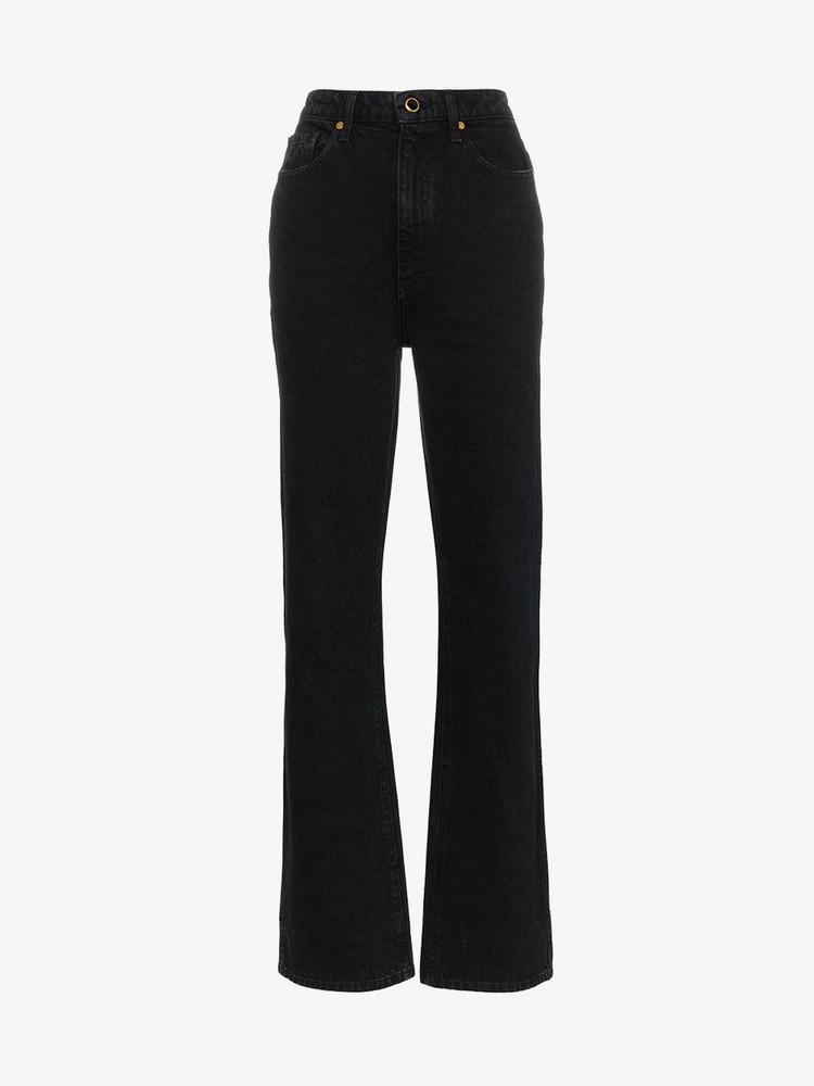 Khaite Danielle straight leg jeans in blue