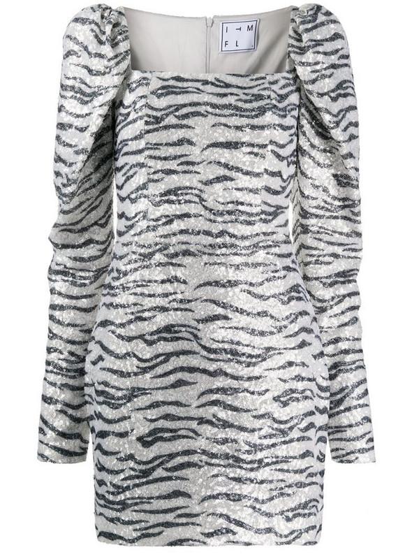 In The Mood For Love zebra print cocktail dress in white