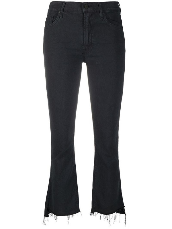 MOTHER The Insider Crop Step Fray jeans in black