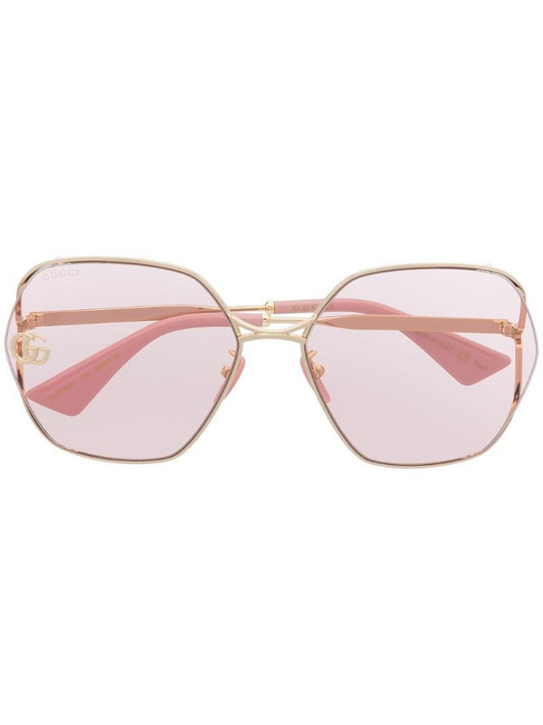Gucci Eyewear Fork square-frame sunglasses in pink