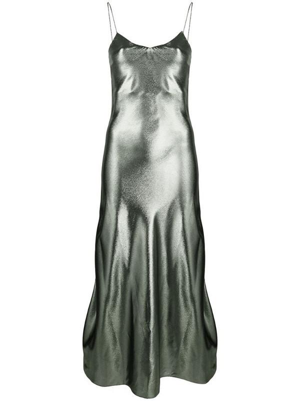 Blazé Milano metallic slip midi dress