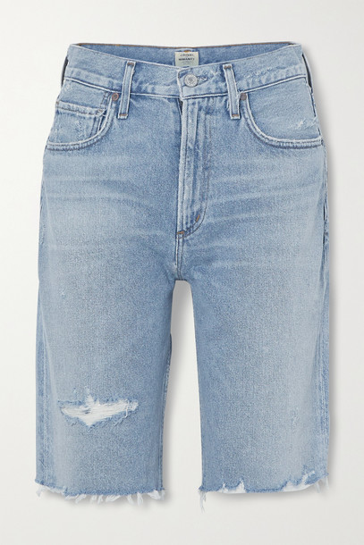 CITIZENS OF HUMANITY - Distressed Denim Shorts - Blue