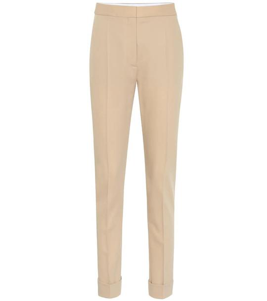 Stella McCartney High-waisted wool pants in beige