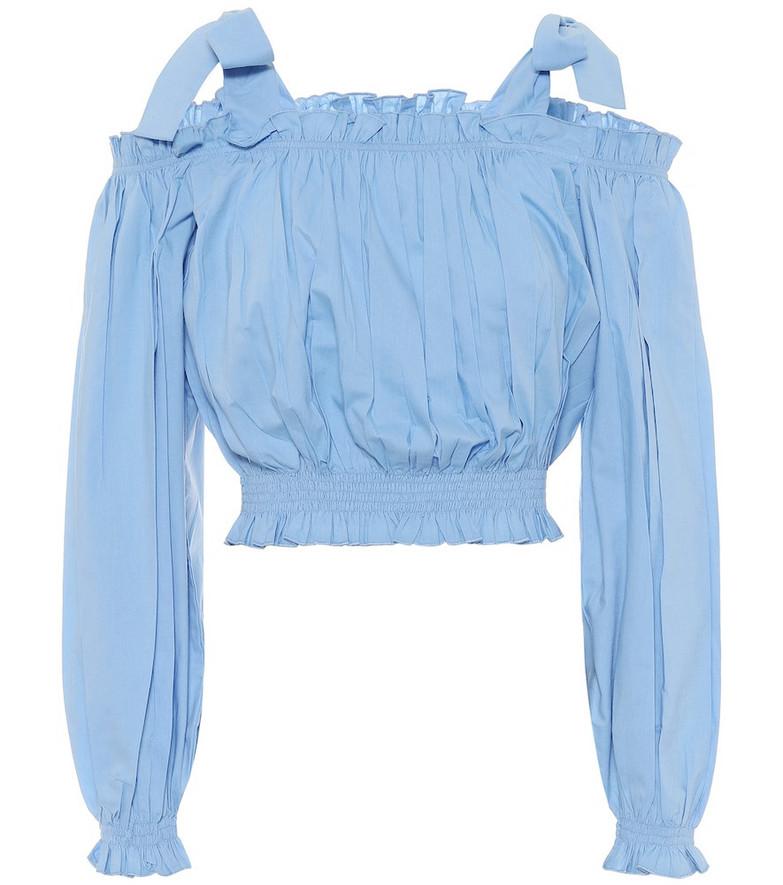 Alexandra Miro Gypsy cotton crop top in blue