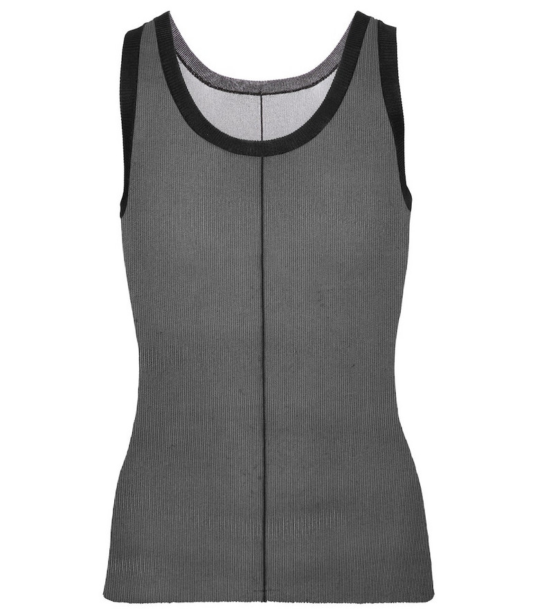 Peter Do Jersey tank top in black