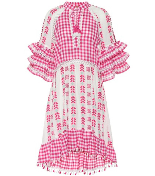 Dodo Bar Or Embroidered cotton midi dress in pink