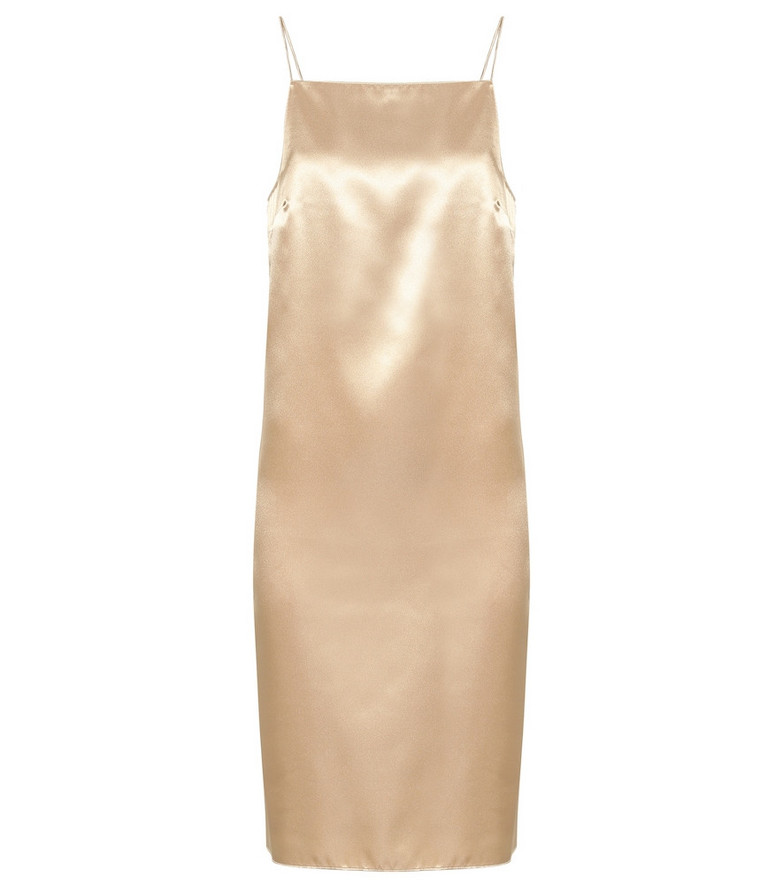 Kwaidan Editions Satin slip dress in neutrals