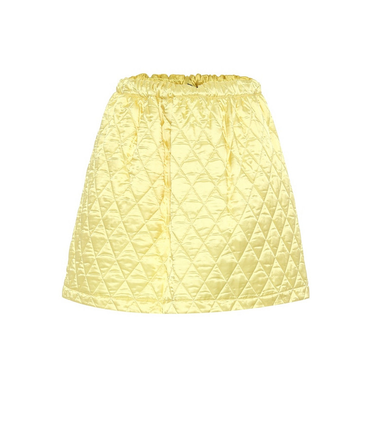 Plan C Quilted miniskirt in yellow