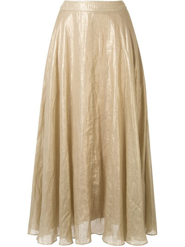 Ginger & Smart Glorious metallized A-line skirt in gold