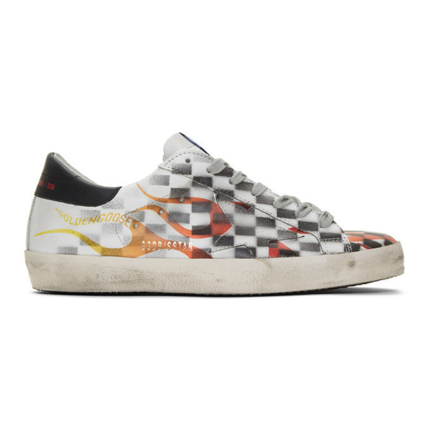 Golden Goose White Flame Dama Superstar Sneakers