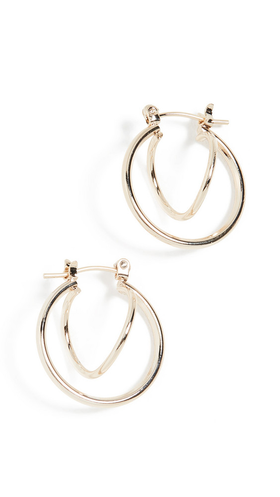 Jules Smith Twisted Huggie Earrings in gold