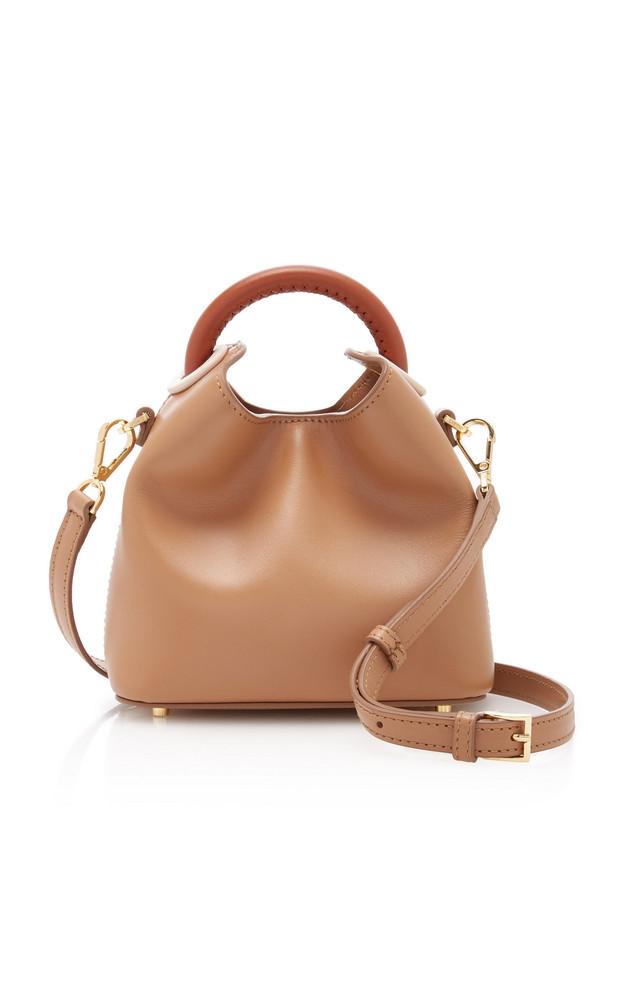 Elleme Madeline Leather Bucket Bag in brown