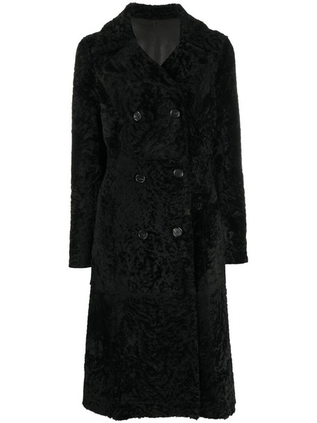 Drome double-breasted reversible coat in black