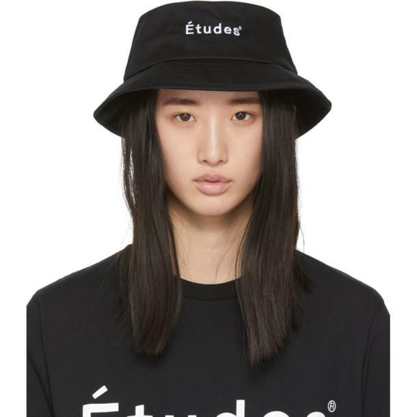Etudes Black Training Bucket Hat