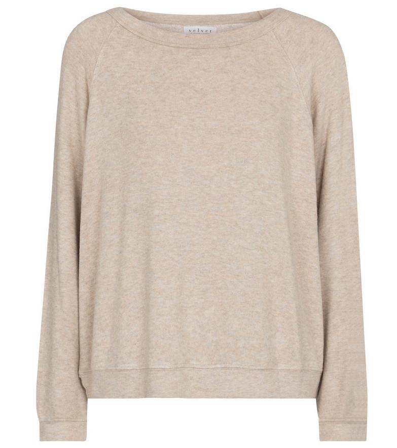 Velvet Brylie stretch-jersey sweatshirt in beige