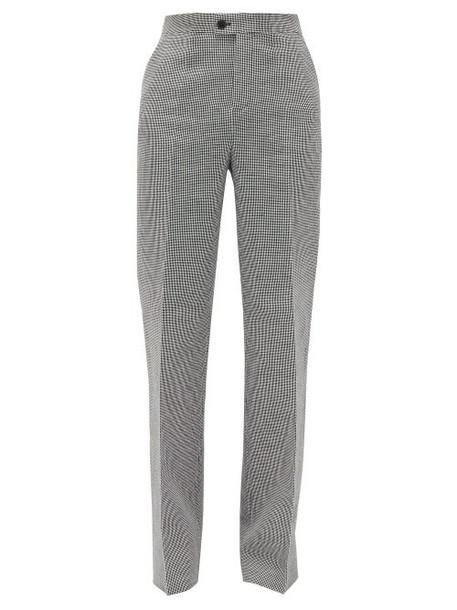 Altuzarra - Higbie High-rise Linen-blend Wide-leg Trousers - Womens - Black White