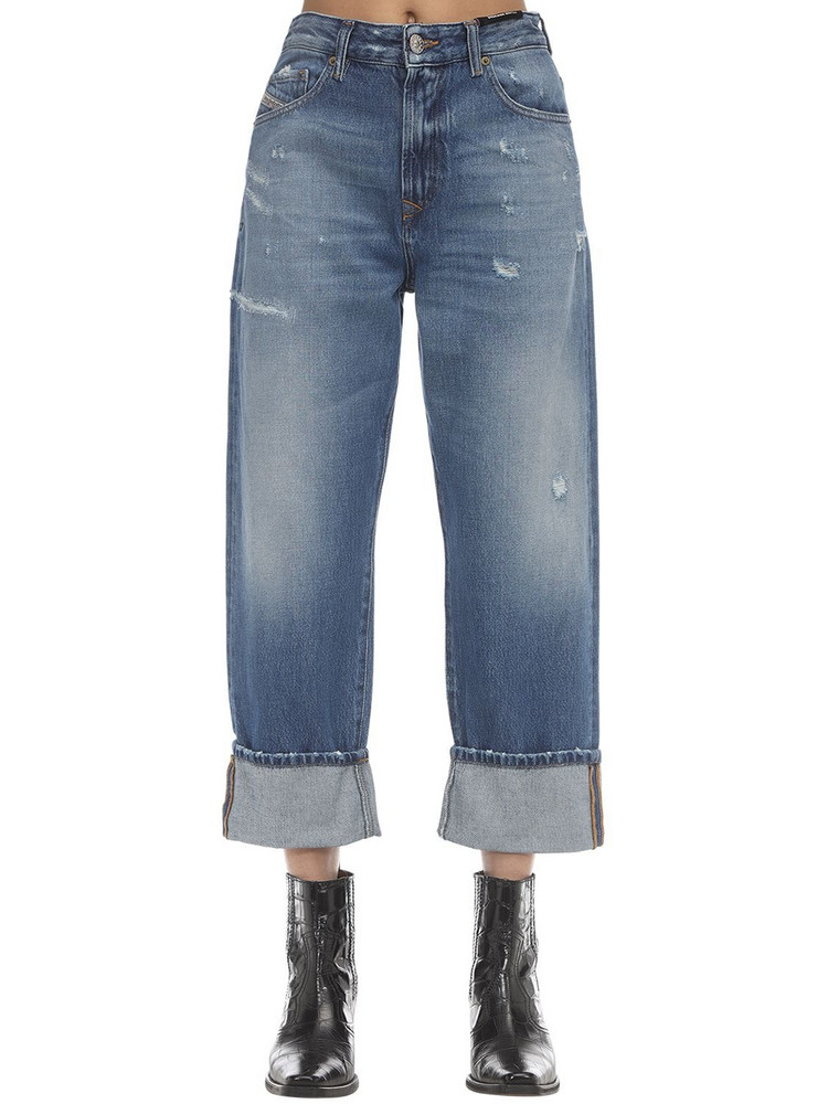 DIESEL Stone Wash Straight Jeans in blue
