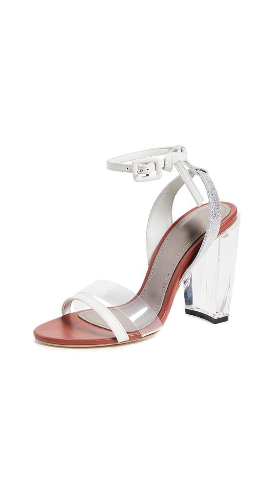 THE VOLON Slingback Sandals in silver / white