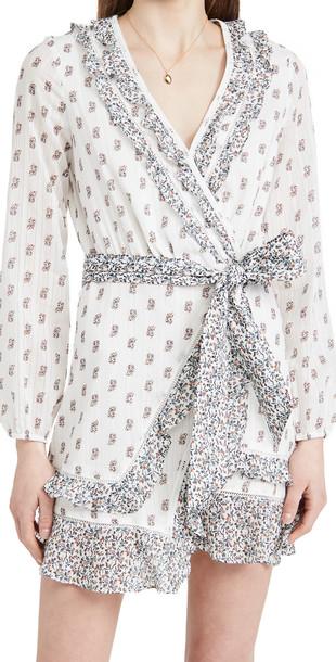 Veronica Beard Kierra Dress in white / multi