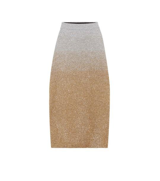 Dries Van Noten Metallic jersey skirt