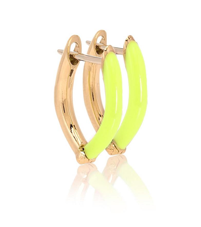 Melissa Kaye Cristina Small 18kt gold hoop earrings