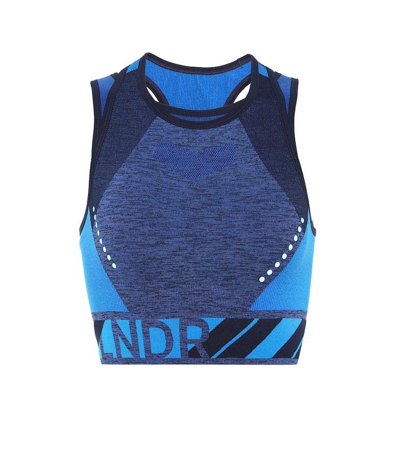 Lndr Stretch sports bra in blue
