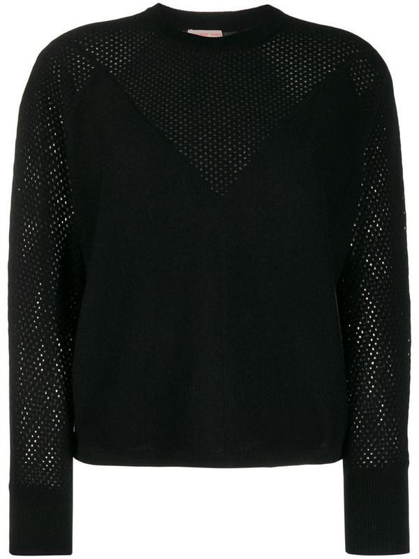 Filippa K Soft Sport mesh cashmere jumper in black