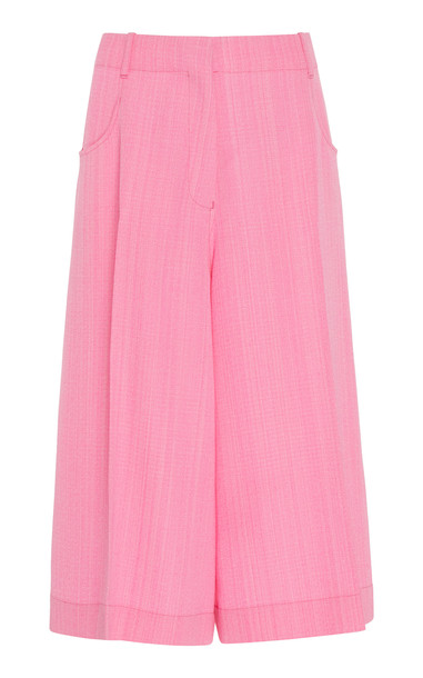Jacquemus Le Short D'Homme Pleated Silk-Blend Culottes Size: 34 in pink