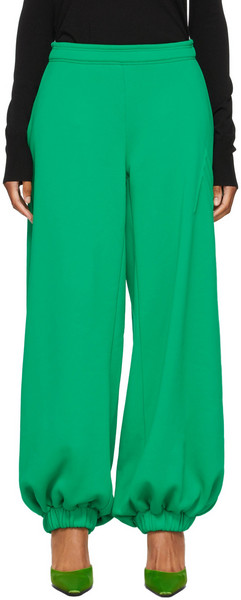 The Attico Green Classic Carter Lounge Pants in emerald