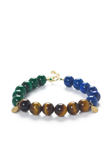 THE ALKEMISTRY trio block beaded bracelet in brown