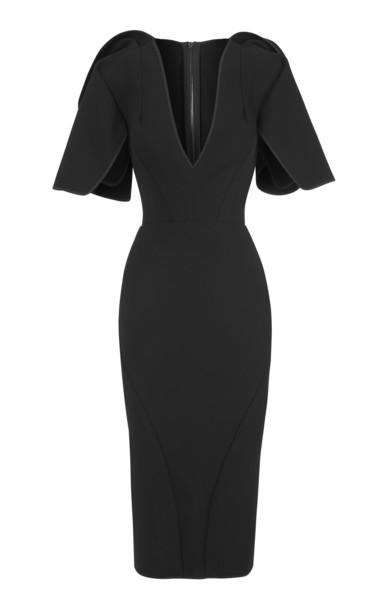 Maticevski Vowed Plunge Dress Size: 6 in black