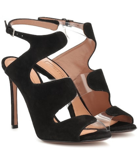 Samuele Failli Suede and PVC sandals in black