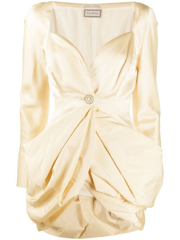 Versace Pre-Owned 2000s puffball-hem jacket in neutrals