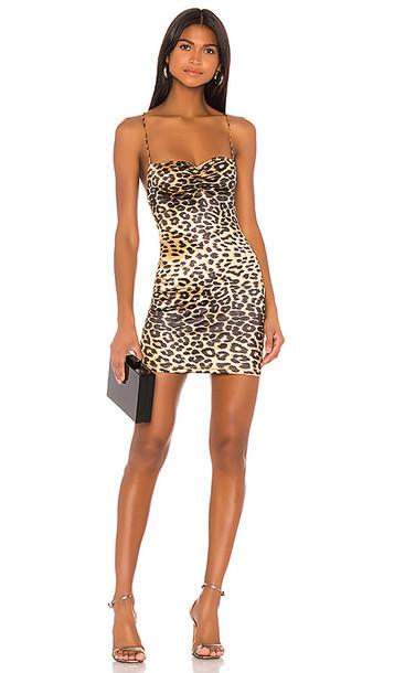 superdown x Draya Michele Tasha Ruched Mini Dress in Brown