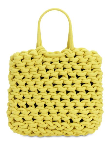 ALIENINA Ada Rope Cotton Shopping Bag in yellow